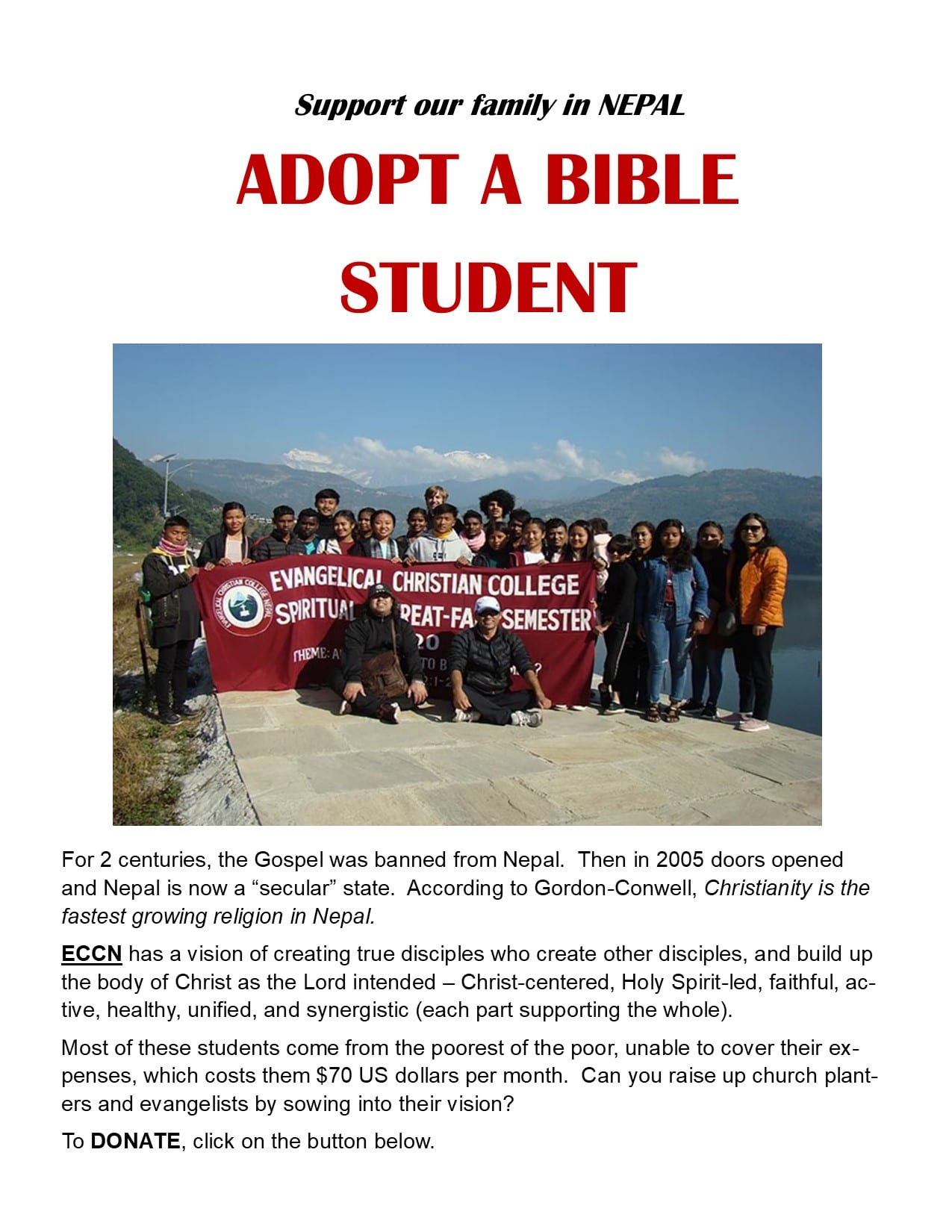 eccn adopt a student poster